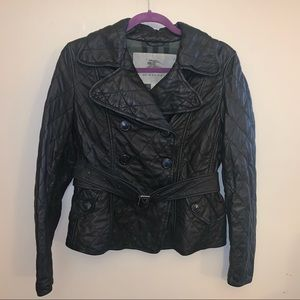 MAKE OFFER Burberry London Leather Quilted Jacket!